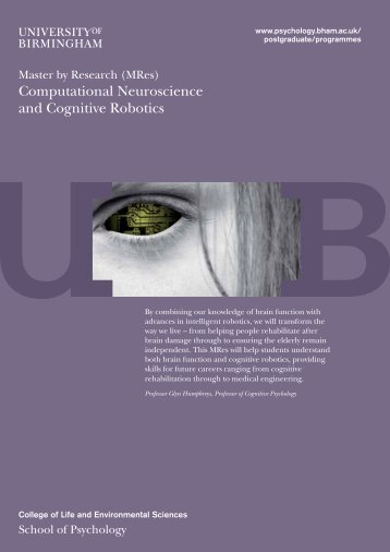 mres-cncr-brochure - University of Birmingham