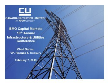 BMO Conference Presentation - Feb 7, 2013 - Canadian Utilities ...