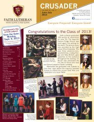 FL June-July 2013.indd - Faith Lutheran Middle School and High ...