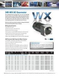 34R-WX AC Gearmotor Brochure - Minarik