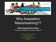 Why Adaptation Mainstreaming??