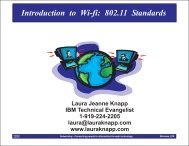 Introduction to Wi-fi: 802.11 Standards - Laura Jeanne Knapp