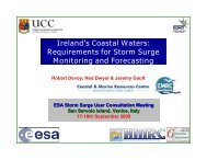 User requirements in Ireland for storm surge monitoring and ...