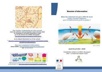 Programme Rencontre Bilan GES 05/04/12 - DREAL Bourgogne