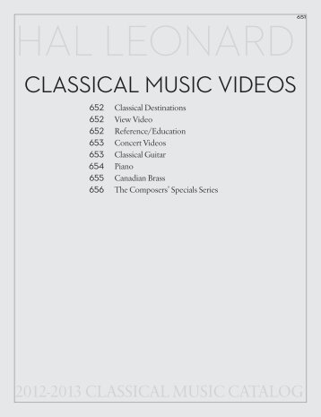 classical music videos - Hal Leonard
