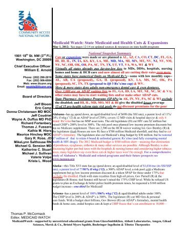 May 2012 Medicaid Watch - Western New York Law Center