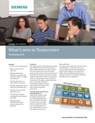 What's New in Teamcenter fact sheet - Siemens PLM Software