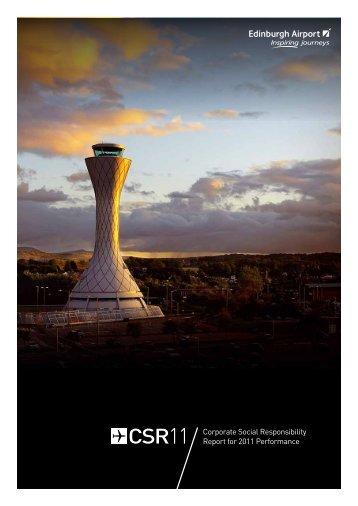 Corporate Social Responsibility Report for 2011 ... - Edinburgh Airport