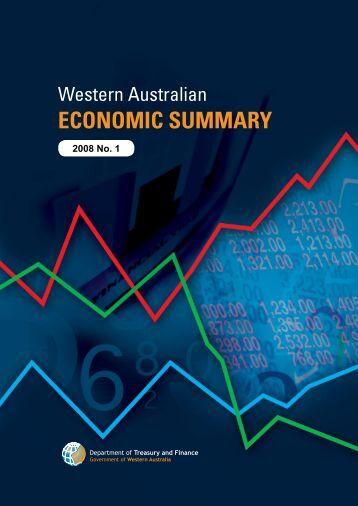 2008 No 1 WA Economic Summary - Department of Treasury