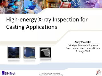 High-energy X-ray Inspection for Casting Applications - Singapore ...