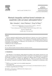 Harnack inequality and heat kernel estimates on manifolds with ...