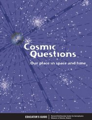 Cosmic Questions - Harvard-Smithsonian Center for Astrophysics
