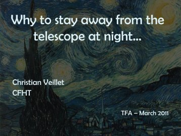 Presentation - Telescopes from Afar