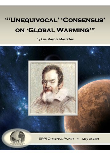 """'Unequivocal' 'Consensus' on 'Global Warming'"""