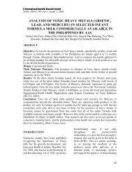 analysis of toxic heavy metals (arsenic, lead, and mercury) - EISRJC