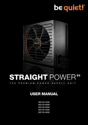 User ManUal - be quiet!