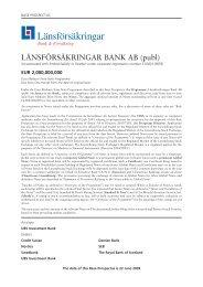 118285 Lansforsakringar Bank intro.qxp - Länsförsäkringar
