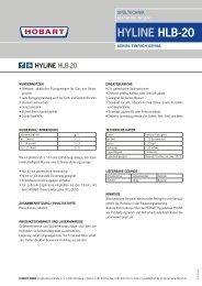 HYLINE HLB-20 - HOBART GmbH