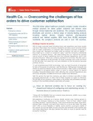 Health Co. — Overcoming the challenges of fax orders to ... - Esker