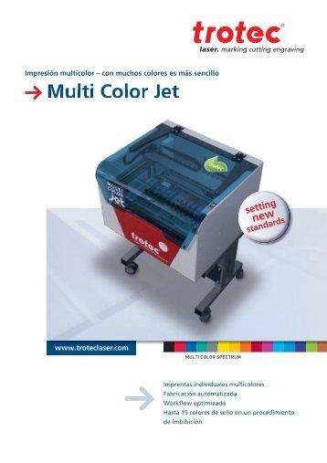 Descarge el Brochure del Multi Color Jet aquí. - Trotec Laser