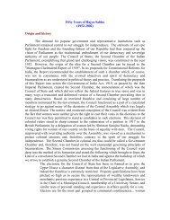 Fifty Years of Rajya Sabha (1952-2002) Origin and history The ...
