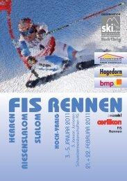 FIS RENNEN - Ski alpin regionales Leistungszentrum Hoch-Ybrig