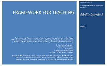 Kentucky Adapted Danielson 2011 Framework - Kentucky Education ...