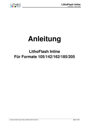 Anleitung Litho Flash