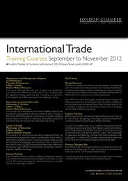 International Trade - London Chamber of Commerce and Industry