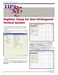 Digitizer Setup for Non-Orthogonal Vertical Section