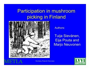 Participation in mushroom picking in Finland