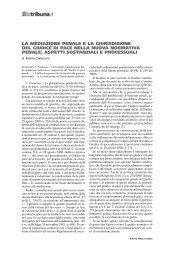 la mediazione penale e la giurisdizione del giudice di ... - La Tribuna