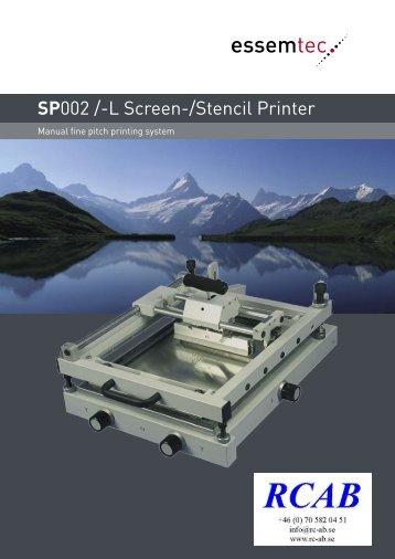 SP 002 Brochure