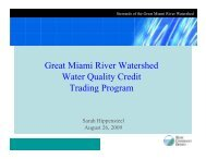 Great Miami River Watershed Water Quality Credit Trading Program