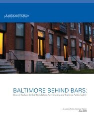 BALTIMORE BEHIND BARS: - Justice Policy Institute