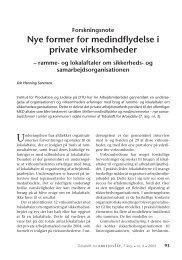 Nye former for medindflydelse i private ... - Nyt om Arbejdsliv