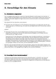 5. Vorschläge für den Einsatz - slbvideo