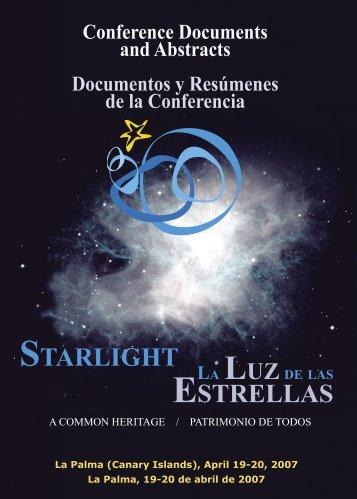 Resumenes y Documentos de la Conferencia - Starlight Initiative