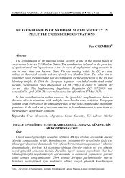 EU COORDINATION OF NATIONAL SOCIAL SECURITY IN ... - AIAS