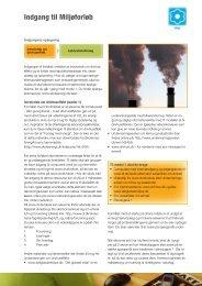 Indgang til Miljøforløb - Energitjenesten