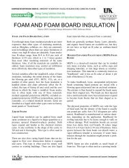 FOAM AND FOAM BOARD INSULATION