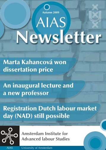 An inaugural lecture and a new professor Registration Dutch ... - AIAS