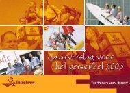 4007 Interbrew, Sociaal Jaarverslag 2003 - AIAS