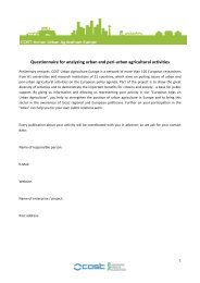Questionnaire for analyzing urban and peri-‐urban agricultural ...