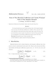Sums of the binomial coefficients and Cauchy principal value of the ...
