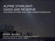 ALPINE STARLIGHT: OASIS AND RESERVE - Starlight Initiative