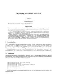 Tidying up your HTML with PHP