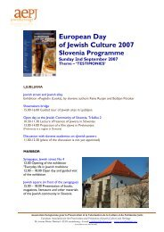 European Day of Jewish Culture 2007 - Jewish Heritage