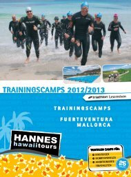 TRAININGSCAMPS 2012/2013 - Hannes Hawaii Tours