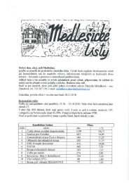 Medlešické noviny listopad 2010 číslo 3. - M klub Medlešice